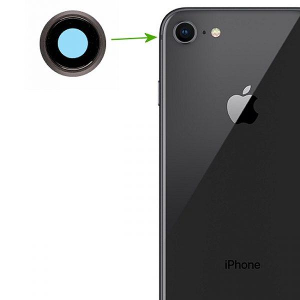 Réparation iPhone 8 lentille de caméra arrière