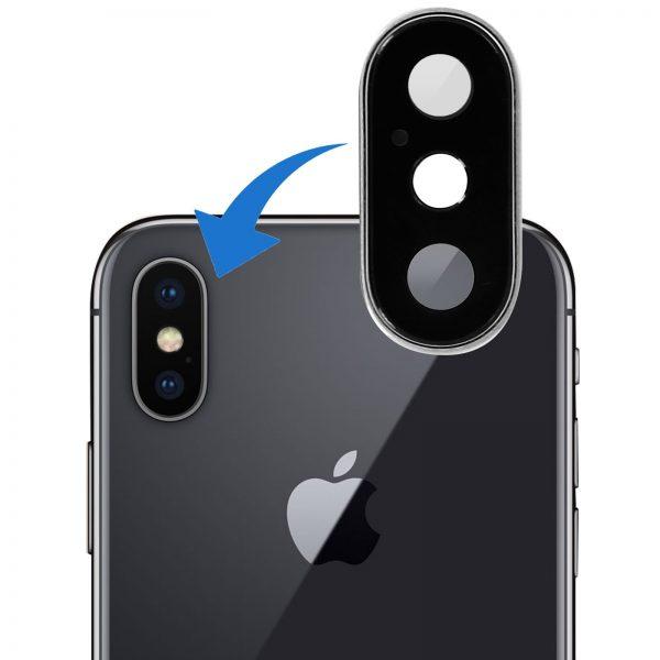 Réparation iphone X lentille camera arriere